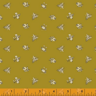 Eliza by Williamsburg 52406M-4 Brass / metallic embellished from Windham Fabrics